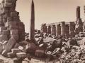 Gustave Le Gray, Obelisco e sala ipostila di Karnak, 1867