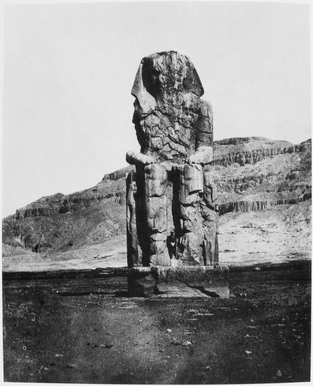 Maxime Du Camp, Thèbes, Colosse Monolithe d'Amenopht III