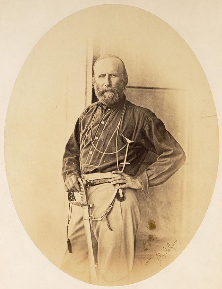 Gustave Le Gray, Ritratto di Giuseppe Garibaldi, 1860