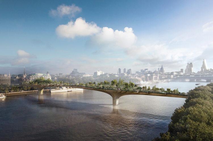 Garden Bridge, immagine rendering da modello 3D